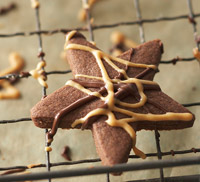 Chocolate-Peanut Butter Shortbread Bites