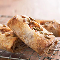 Creamy Pumpkin Strudels