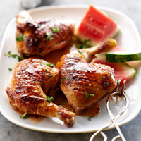 Grilled Chicken with Watermelon Glaze