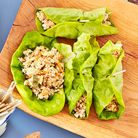 Spicy Tofu Lettuce Wraps