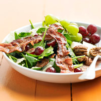 Spinach, Grapes and Bacon