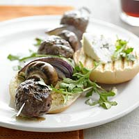 Blue Cheese Burger Kabobs
