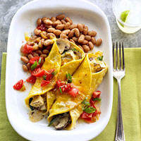 Mushroom and Poblano Vegetarian Enchiladas from Better Homes & Gardens