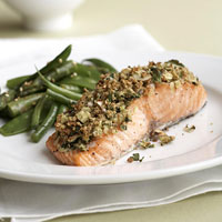 Almond-Herbed Salmon