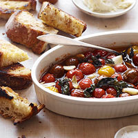 Slow-Baked Tomatoes with Garlic and Mint