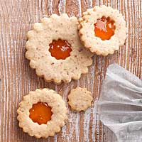 Almond Apricot Window Cookies