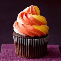 Candy-Corn Twist Cupcakes