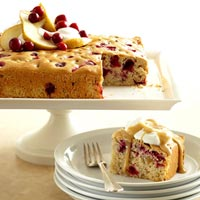 Cranberry-Pear-Walnut Cake