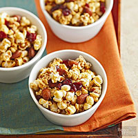 Cranberry-Orange Caramel Corn