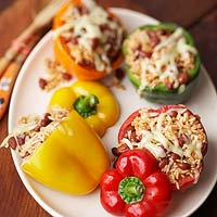 Bean-and-Rice-Stuffed Peppers