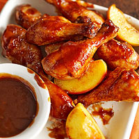 Super Simple Peachy Barbecue Chicken