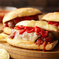 Fire-Roasted Tomato and Italian Sausage Grinders
