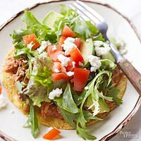 Spicy Adobo Pork Tostadas