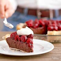 Double Chocolate-Mascarpone Raspberry Pie