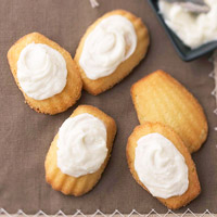 Madeleine Cookies with Vanilla Bean Buttercream