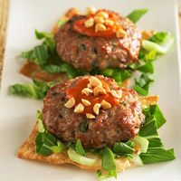 Pork and Peanut Burgers