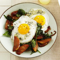 Egg and Wilted Spinach Salad