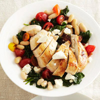 Feta-Stuffed Chicken Breasts with lemon
