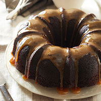 Bourbon-Chocolate Tipsy Cake