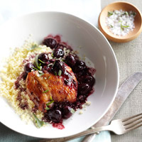 Seared Chicken with Cherry-Tarragon Sauce