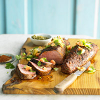 Grilled Pork Tenderloin with Pineapple and Papaya Salsa