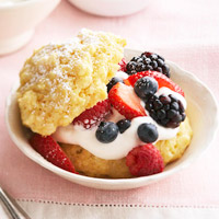 Berry-Cornmeal Shortcakes