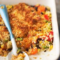 Cheese and Vegetable Rice Casserole