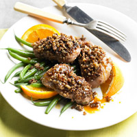 Pecan-Crusted Pork with Orange-Maple Glaze