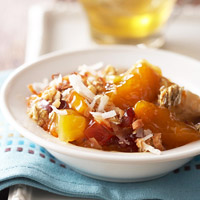 Tropical Apricot Crisp