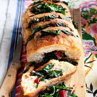 Garlic Bread with Chard