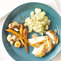 Savory Roast Chicken & Gravy