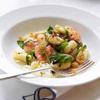 Donatellas Cavatelli with Spicy Shrimp