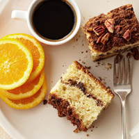 Sour Cream-Orange Coffee Cake with Chocolate Streusel