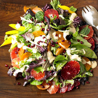Persimmon, Blood Orange, and Pomegranate Salad