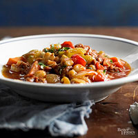 Hominy and Chorizo Chili