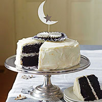 Black Velvet Cake with Orange Cream Cheese Frosting