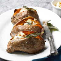 Cumin-Rubbed Sweet Potatoes with Sage