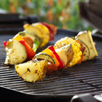 Grilled Potato Kabobs with Lemon-Herb Drizzle