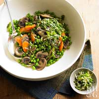 Peas, Carrots, and Mushrooms