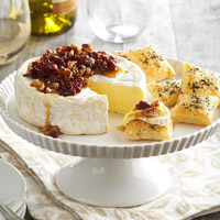 Pecan and Cherry-Topped Brie 