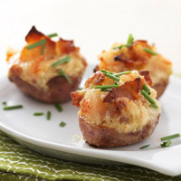 Shrimp-and-Bacon-Stuffed Baby Potatoes