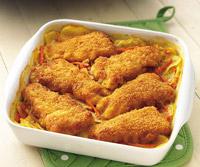 Crispy Fish-Topped au Gratin Potatoes