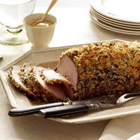 Herb-and-Garlic-Crusted Pork Roast