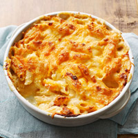 Three-Cheese Baked Mac