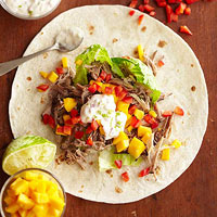 Jerk Pork Wraps with Lime Mayo