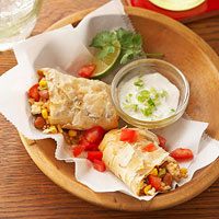 Crispy Chipotle Bean Burritos