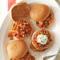 Sloppy Turkey and Veggie Sandwiches