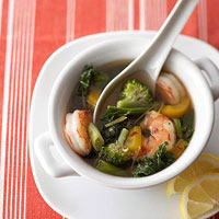 Lemon-Sesame Shrimp Soup