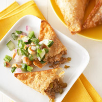 Image of Asian Bbq Pork Wontons With Cucumber-peanut Salsa, Better Homes and Garden