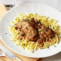 Chicken Paprikash with Spaetzle